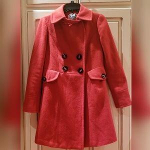 Double breast wool blend coat.